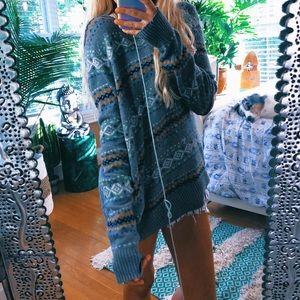 ae bohemian faire aisle chunky sweater